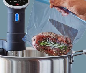 cooking protein with the Anova Sous Vide stick