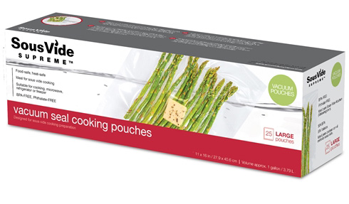 Vacuum Seal Cooking Pouches/Bags - Large