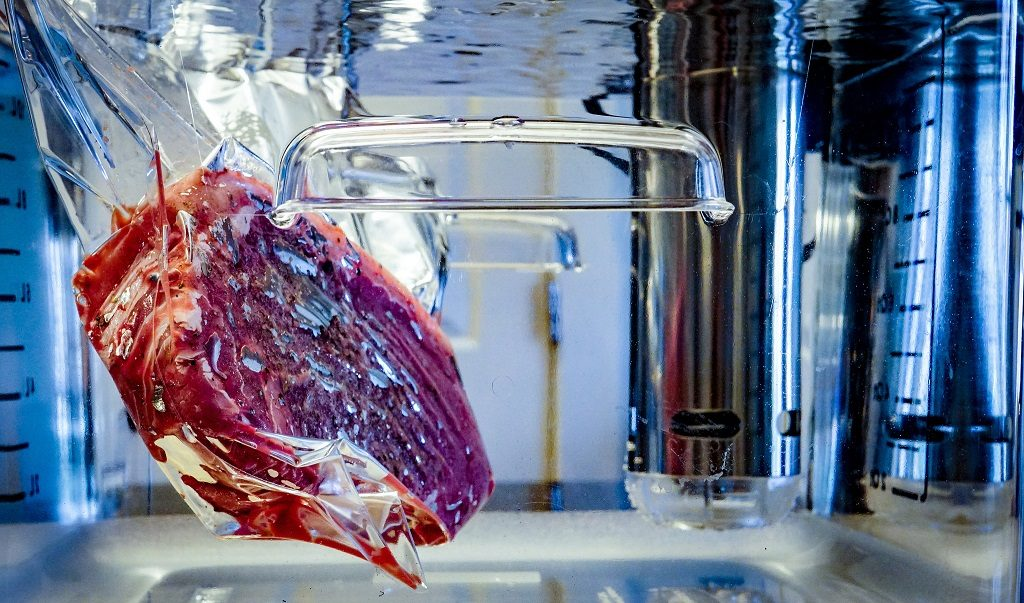 cooking a steak sous vide style